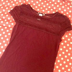 H&M Red Lace Shirt